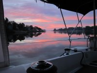 Sunrise at Deltaville Anchorage