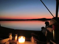 Baulieu anchorage sunset