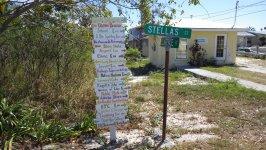Black Point Setlement Road Sign