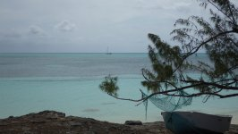 Yacht at Rum Cay Anchorage