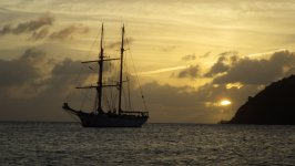 Tallship in Rendezvous Bay