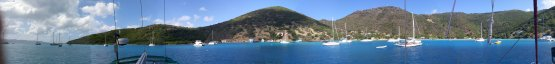 Panoramic View of Great Harbour Jost Van Dyke BVI
