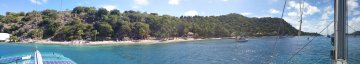 Panoramic View of Machioneel Bay Cooper Island