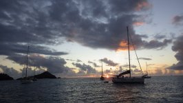 Sunset at Anse de Colombier St Barths