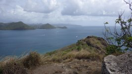 Pigeon Island Park View of Fort Rodney from Signal Point