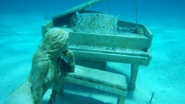Mermaid Piano Underwater Sculpture